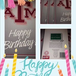 5 Texas A&M Happy Birthday Cards With Envelopes